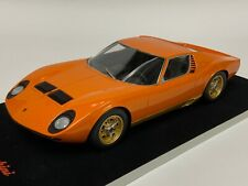 1/18  Lamborghini Miura in Orange Resin Hand Build Black suede base BBR or MR.