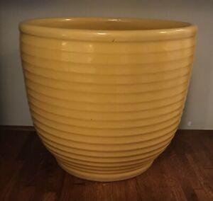 "Vintage Large Yellow #12 Bauer Pottery Ringware Planter Vase Pot 11.75"" x 13.75"""