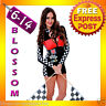 J82 Racer Racing Sport Driver Costume Super Car Grid Girl Fancy Dress Outfit