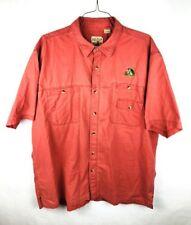 RedHead Mens Button Front Fishing Shirt Size 2XL XXL Salmon Pink Red Bass