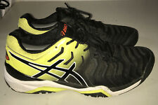 Asics GEL Resolution 7 C701Y Mens Tennis Shoes Mens Size 12 Yellow Black Lace Up