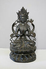 Large  Chinese  Hand  Carved  Hard  Wood  Statue  of  Kwan-Yin     M 2197