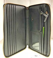 New Kate Spade Laurel Way Talla Black Leather XL Large Zip Around Travel Wallet