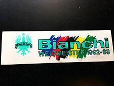 NOS VINTAGE ORIGINALE BIANCHI Sticker adesivi decals Weltmeister World Champion
