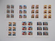 GB QEII 2010 Christmas Set of 7 in Cylinder Blocks of 6 Self-adhesives Cat £72+