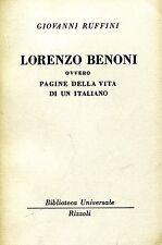 Giovanni Ruffini = LORENZO BENONI BUR 479-482