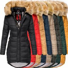 Navahoo PAPAYA Damen Winter Jacke Steppjacke Mantel Parka Kapuze Warm Gefüttert