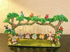 Easter Quintet Set - Bunnies Swinging In Tree W/ Animals Birds - New In Box