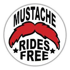 Mustache Rides Libre Retro Pegatina, Moto, Hotrod 85mm X 85mm