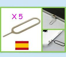 5 EXTRACTOR DE TARJETA SIM para Iphone ipad, Apple / Samsung S3,4,5/BQ/LG,Xiaomi