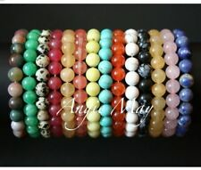 Wholesale Lot! 50 Round GEMSTONE Bead Stretch Bracelets