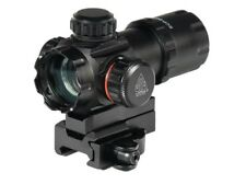 """Leapers 3.9"""" ITA Red/Green Dot Sight with 2 Mount Decks and Flip-open Lens Caps"""