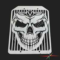 Motorcycle Steel Skull Mesh Radiator Guard Cover Cap For Kawasaki VN1500 VN1700
