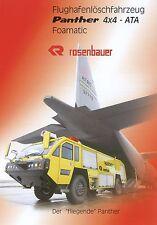Prospekt Rosenbauer Panther 4x4 ATA 6 00 2000 Flughafen Löschfahrzeug Feuerwehr