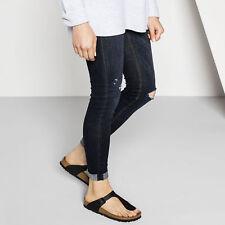 Birkenstock Gizeh Comfort Thong Sandals Black Birko-Flor Pick A Size S/D