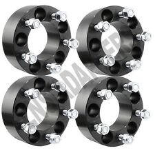 "4pcs BLACK Ford Mustang GT Boss Laguna Seca Shelby GT500 Wheel Spacers 2"" 5lug"