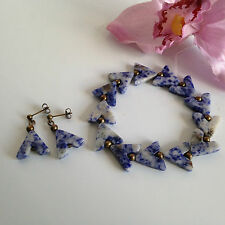 Handmade Genuine Gemstone Jewellery Sodalite set