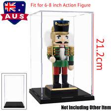 AU 21cm Acrylic Display Case Dustproof Protection Box Self-Install Plastic Base
