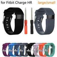 For Fitbit Charge HR Replacement Silicone Bracelet Wrist Watch Band Strap