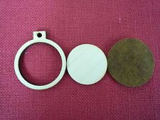 """Mini Round Wooden Embroidery hoop for Necklaces or pendants - 2"""" size"""