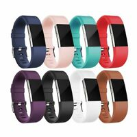 2 Band Replacement Wrist Strap Silicone Smart Watch Band S-L For Fitbit Charge
