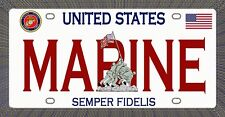 USMC - Semper Fi - Magnetic Car Sign - 6in X 3in