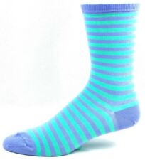 Hot Sox Purple and Green Thin Striped Crew Socks