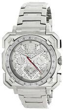 Aqua Master Mens Silver Dial Stainless Steel Bracelet Diamond Watch W#355