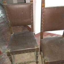 Lotto di 2 sedie, seggiole da sala con borchie