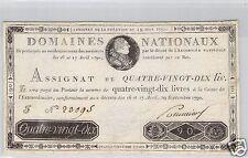 DOMINIOS NACIONALES ASSIGNAT 90 LIBROS 19.6.1791 FALSA DE LA ÉPOCA Nº 23095