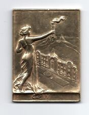 1909 BRONZE ART- NOUVEAU MEDAL, WOMAN WITH TORCH. M43