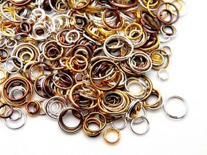 30g of Random Mixed Colour & Mixed Size Jump Rings Jewellery Findings Craft A316