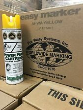 Fox Valley apwa Yellow Field Striping Paint, Utility Marking Paint 12 can case