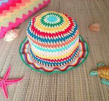 Cappellino Neonata Cotone Uncinetto Fatto A Mano