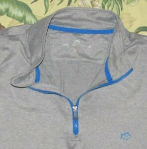 Mens SOUTHERN TIDE Performance Gray Skipjack Pullover Longsleeve Shirt XL