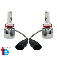 2x NEW H8 H9 H11 H16 8000K Ice Blue COB LED Headlight Bulbs Kit High Low Beam US