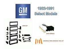 CAR STEREO INSTALL DASH KIT, HARNESS for 1982-1991 GENERAL MOTORS Select Models