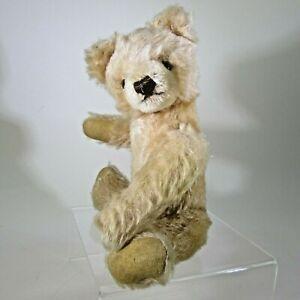 "10"" Vintage STEIFF teddy bear blonde mohair fully jointed SQUEAKER WORKS nice!"