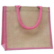 Natural /& Bio Degradable Bags Jute Hessian Colourful Retro Style Satchel Bag