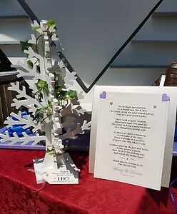 Wishing Tree Heart butterfly tag Wedding Engagement Christening Party Event hire