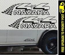 2x nissan NAVARA 4X4 DECALS D40 D22 D21 TYRE TRACKS stickers