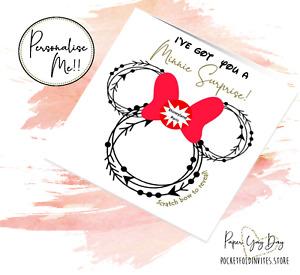Disney Surprise. Disneyworld Card. Disneyland Gift Reveal. Surprise Holiday Trip