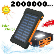 General 2000000mAh Solar Charge Power Bank External Polymer Battery Fast Charger