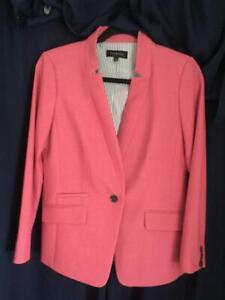 Talbots Raspberry Color One Button Blazer Size 6 NWOT