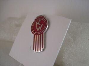 19??  Kenworth  Truck cloisonne emblem vintage  logo red  pin