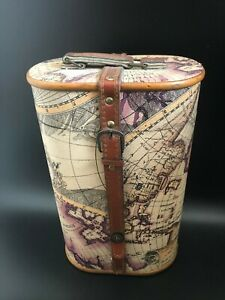 Home Decor  Rustic World Map Design Wine Holder