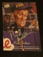 Rudolph Rudy Giuliani New York City mayor signed autographed card GOP patriot
