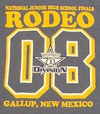 Blue TShirt National Junior High School Finals Rodeo 2008 Gallup New Mexico Sz L