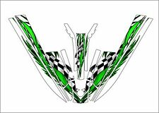 kawasaki 440 js 550 sx jet ski wrap graphics pwc stand up jetski decal green