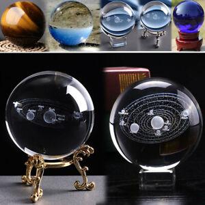 20-60mm Rare Quartz Gemstone Sphere Crystal Reiki Healing Ball Stone Stand Lot